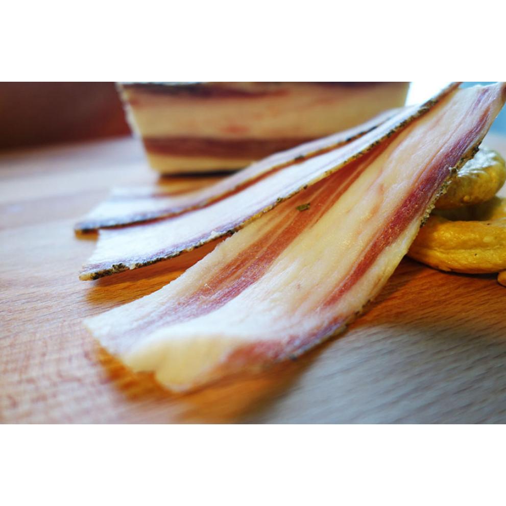 Pancetta salata affettata Sottovuoto