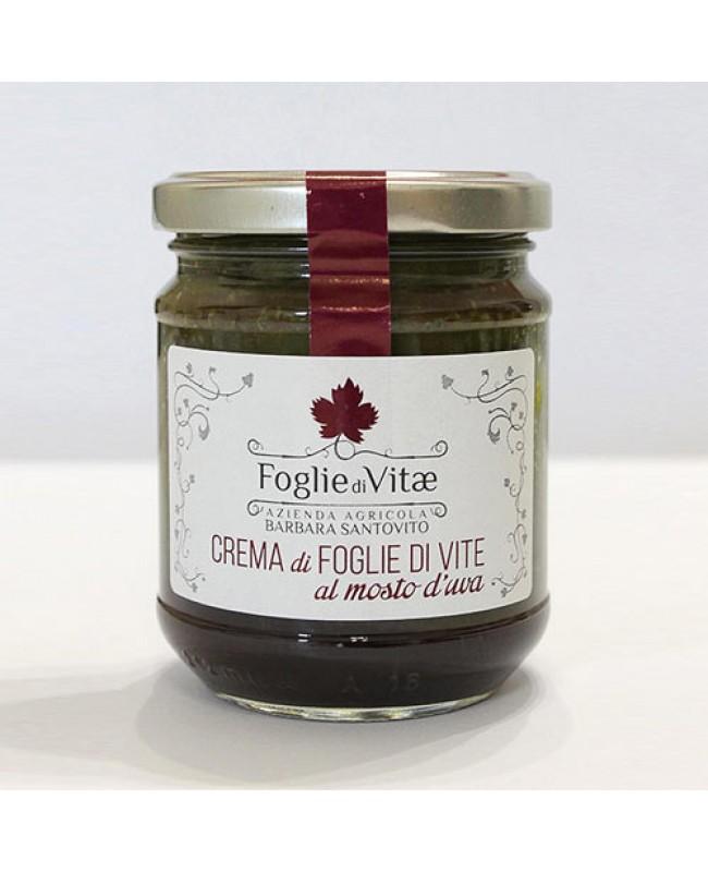 Crema di foglie di vite al mosto d'uva