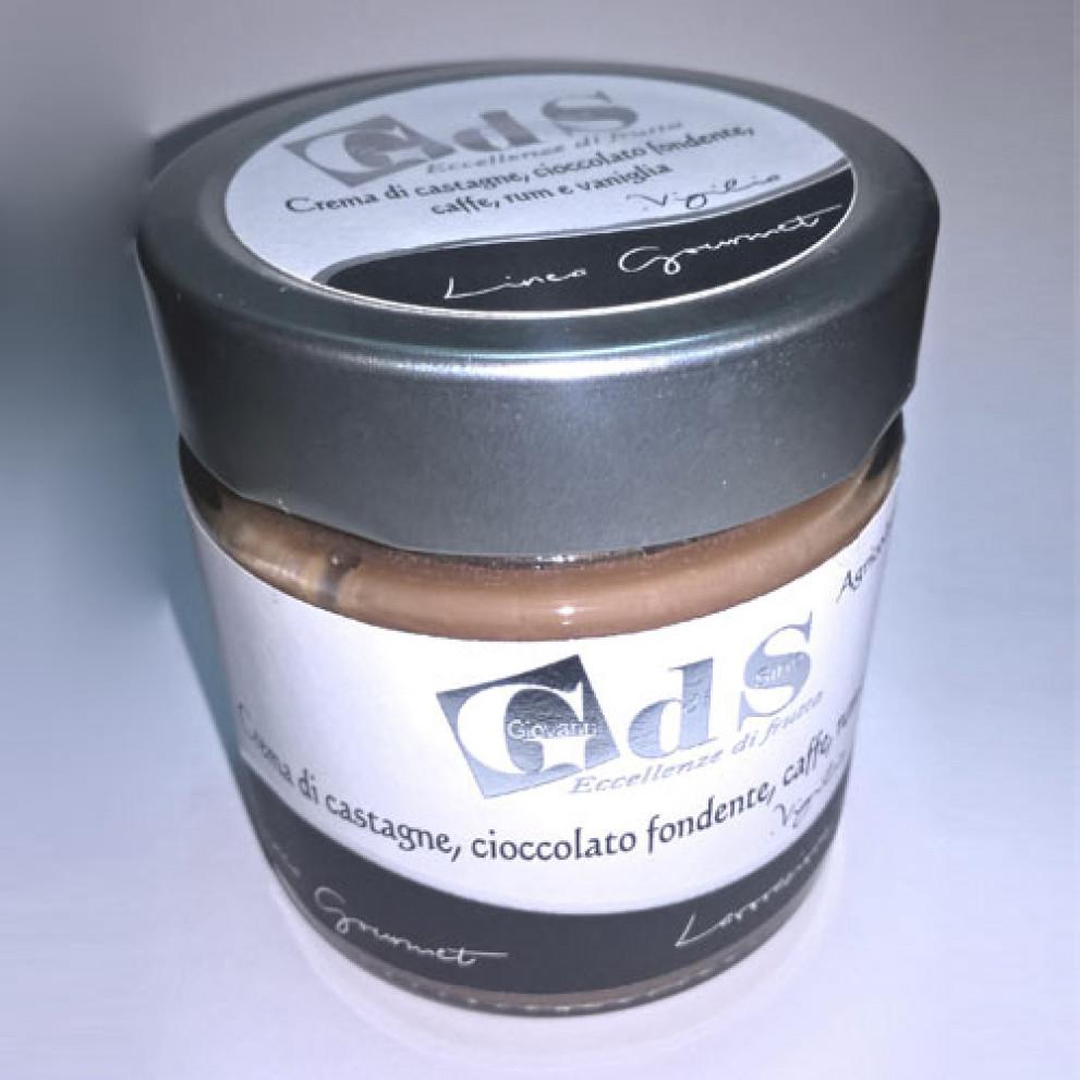 Crema di Castagne con cioccolato fondente e rum